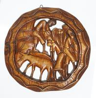 Carved wood decor