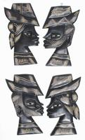 Pair of Haitian masks