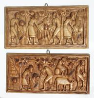 Carved wooden decor