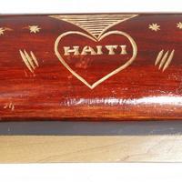 Haitian wooden box