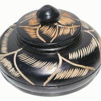 Black wooden basket