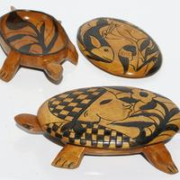 Turtle wooden plates