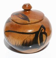 Round wood basket