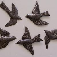 Set 5 Metal Birds