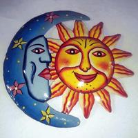 Colored sun and moon