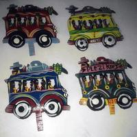 Set 4 Metal cars