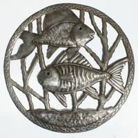 Metal Fishes wall decor