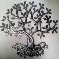 Haitian art metal tree of life
