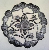 Leaves and flowers metal decor