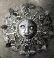 Metal sun face, wall art
