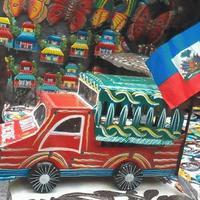Haitian painted car