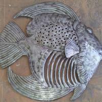 Large metal fish