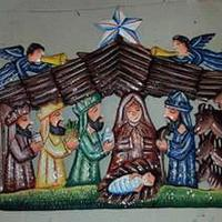 Nativity colored decor