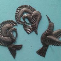 Set 3 metal birds