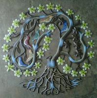 Tree of life: Colorful haitian metal art