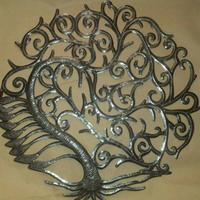 Tree of life: Scrap metal art
