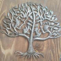 Haitian tree of life, metal artwork