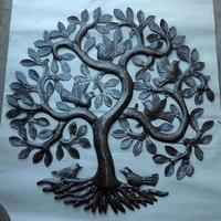 Haitian metal wall art - tree of life