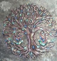Painted tree of life: Haitian sculpture