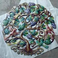 Metal colorful tree of life: Steel wall art