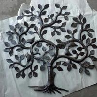 Haitian steel drum metal art: tree of life