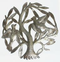 Metal tree with two birds
