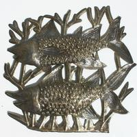 Fishes haitian sculpture
