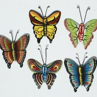 Set 5 colored butterflies
