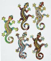 Lot 5 colored lizards