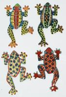 Lot 4 colored frogs
