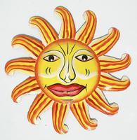 Colored sun face